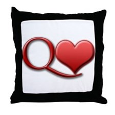 """Queen of Hearts"" Throw Pillow"
