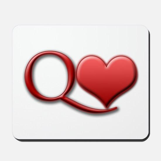 """Queen of Hearts"" Mousepad"