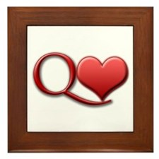 """Queen of Hearts"" Framed Tile"