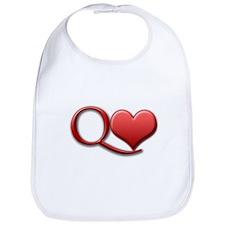 """""""Queen of Hearts"""" Bib"""