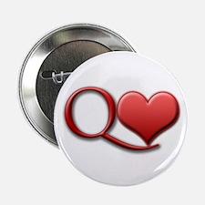 """Queen of Hearts"" 2.25"" Button"