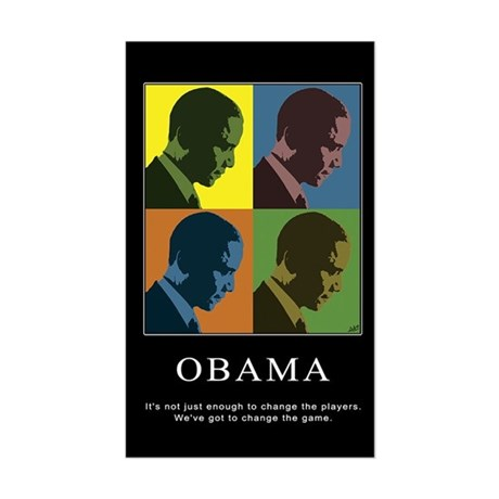 Limited Edition Obama Vinyl Rectangle Sticker