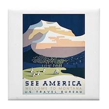 See America Montana Tile Coaster