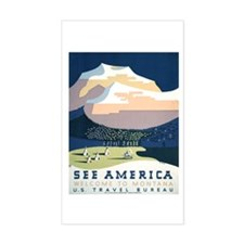 See America Montana Rectangle Stickers