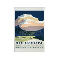 See America Montana Rectangle Magnet