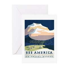 See America Montana Greeting Cards (Pk of 10)