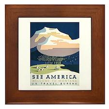 See America Montana Framed Tile