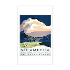 See America Montana Rectangle Stickers