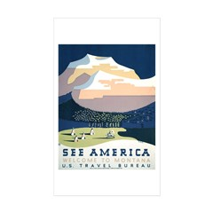 See America Montana Rectangle Sticker 50 pk)