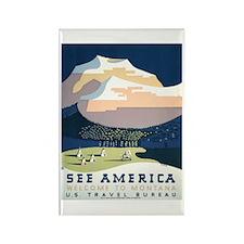 See America Montana Rectangle Magnet