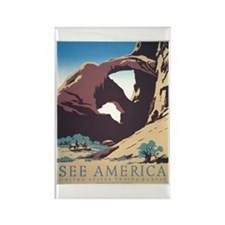 See America Natural Arches Rectangle Magnet