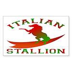Italian Stallion Rectangle Sticker