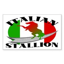 Italian Stallion Rectangle Decal