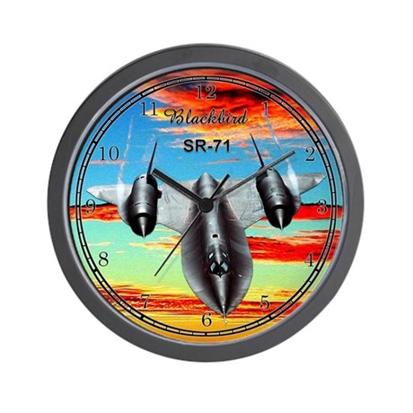 SR-71 Blackbird Wall Clock