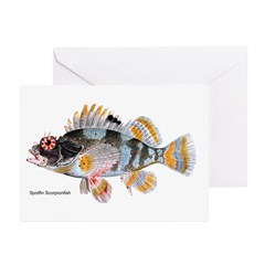 Scorpion Fish Greeting Cards (Pk of 10)