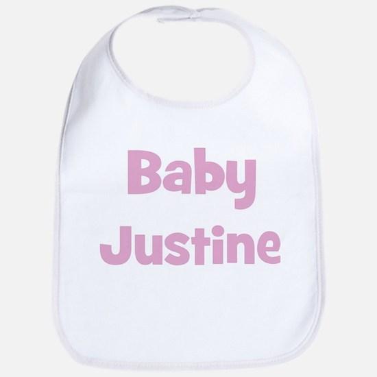 Baby Justine (pink) Bib