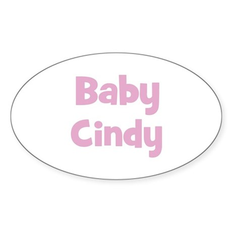 Baby Cindy (pink) Oval Sticker