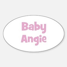 Baby Angie (pink) Oval Decal