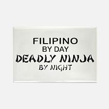 Filipino Deadly Ninja by Night Rectangle Magnet