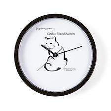 Cat Personal Assistant Wall Clock
