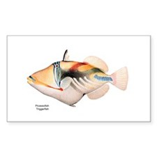 Picasso Trigger Fish Rectangle Decal