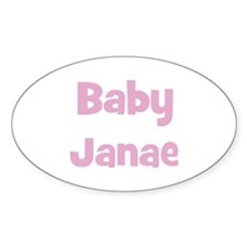 Baby Janae (pink) Oval Decal