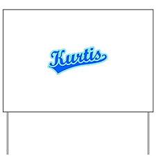 Retro Kurtis (Blue) Yard Sign