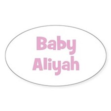 Baby Aliyah (pink) Oval Decal