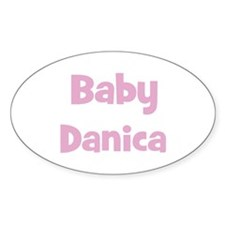 Baby Danica (pink) Oval Decal