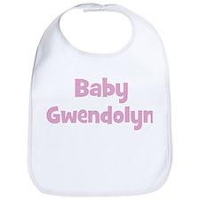 Baby Gwendolyn (pink) Bib