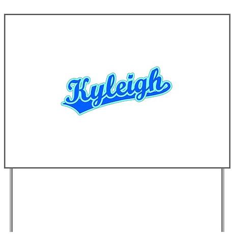 Retro Kyleigh (Blue) Yard Sign