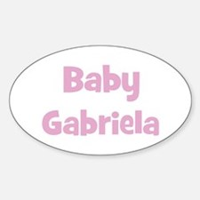 Baby Gabriela (pink) Oval Decal