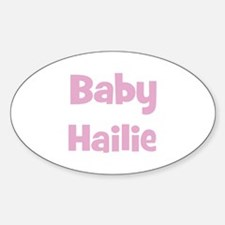 Baby Hailie (pink) Oval Decal