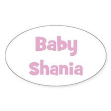 Baby Shania (pink) Oval Decal