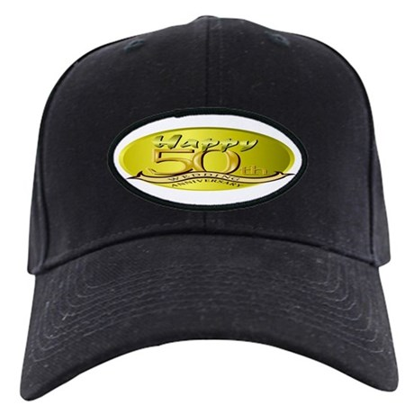 50th Wedding Anniversary Black Cap