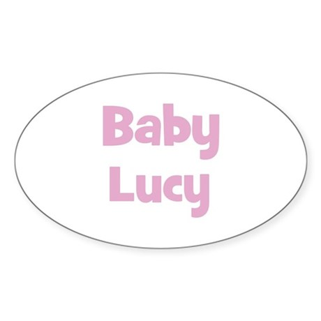 Baby Lucy (pink) Oval Sticker