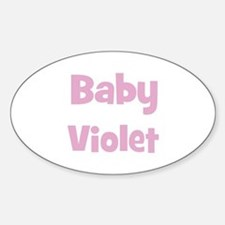 Baby Violet (pink) Oval Decal