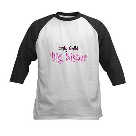 Only to Big Sister Curly Kids Baseball Jersey
