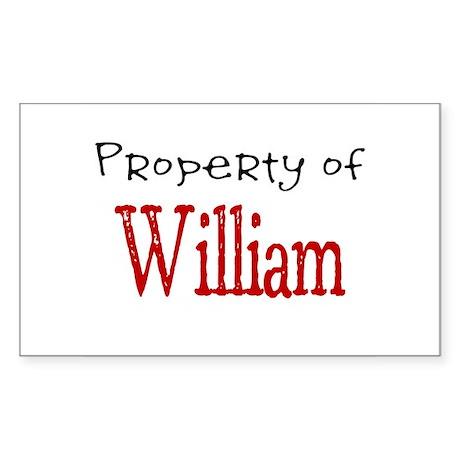 William Rectangle Sticker
