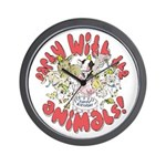 PARTY WITH THE ANIMALS Wall Clock
