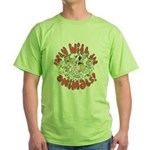 PARTY WITH THE ANIMALS Green T-Shirt