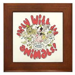 PARTY WITH THE ANIMALS Framed Tile