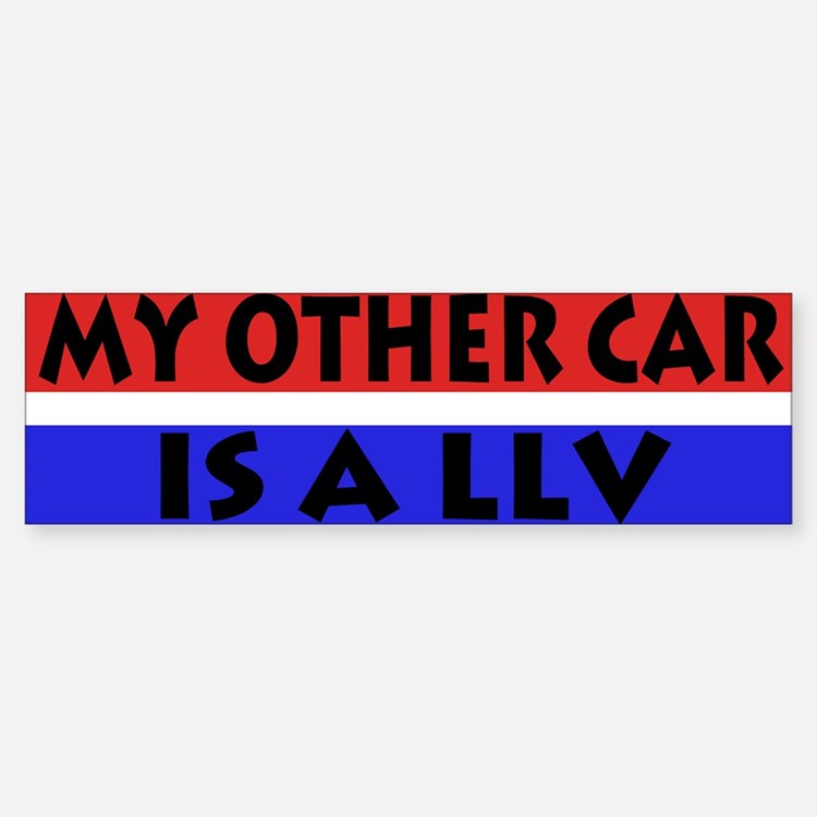 LLV Bumper Car Car Sticker