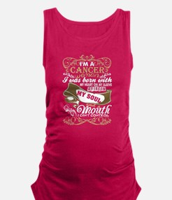 Im A Cancer Woman I Was Born With My Hear Tank Top