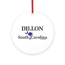 Dillon South Carolina Ornament (Round)