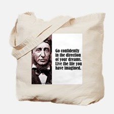 "Thoreau ""Go Confidently"" Tote Bag"