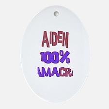 Aiden - 100% Obamacrat Oval Ornament