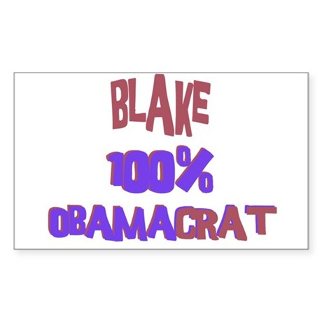 Blake - 100% Obamacrat Rectangle Sticker