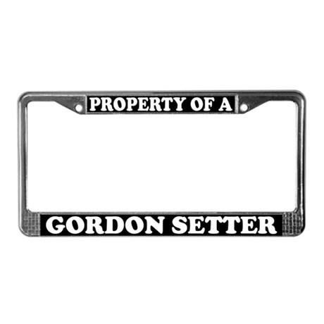 Property Of A Gordon Setter License Plate Frame