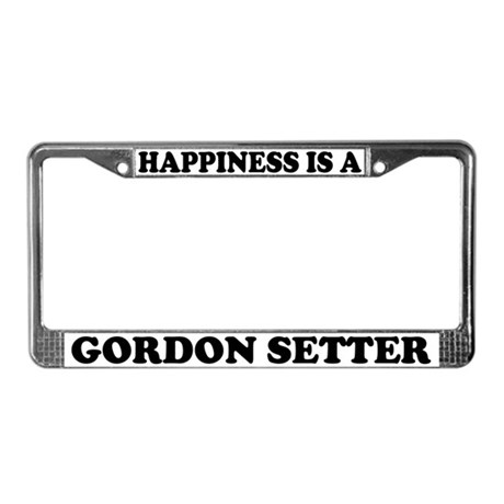 Happiness Is A Gordon Setter License Plate Frame